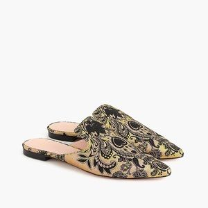 J. Crew Pointed Toe Brocade Tapestry Flats